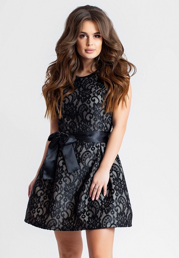 женское вечерние платье modna anka, черное