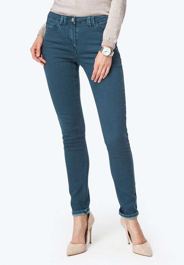 женские зауженные брюки vilatte, бирюзовые
