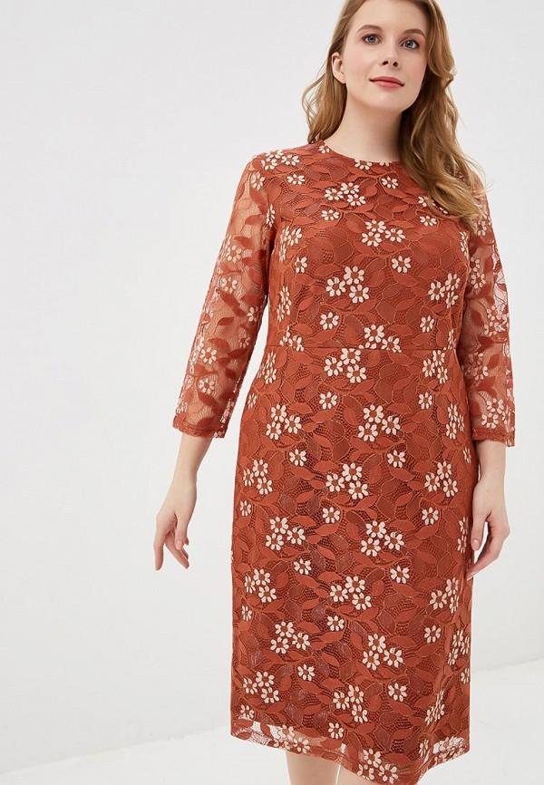 женское вечерние платье svesta, коричневое