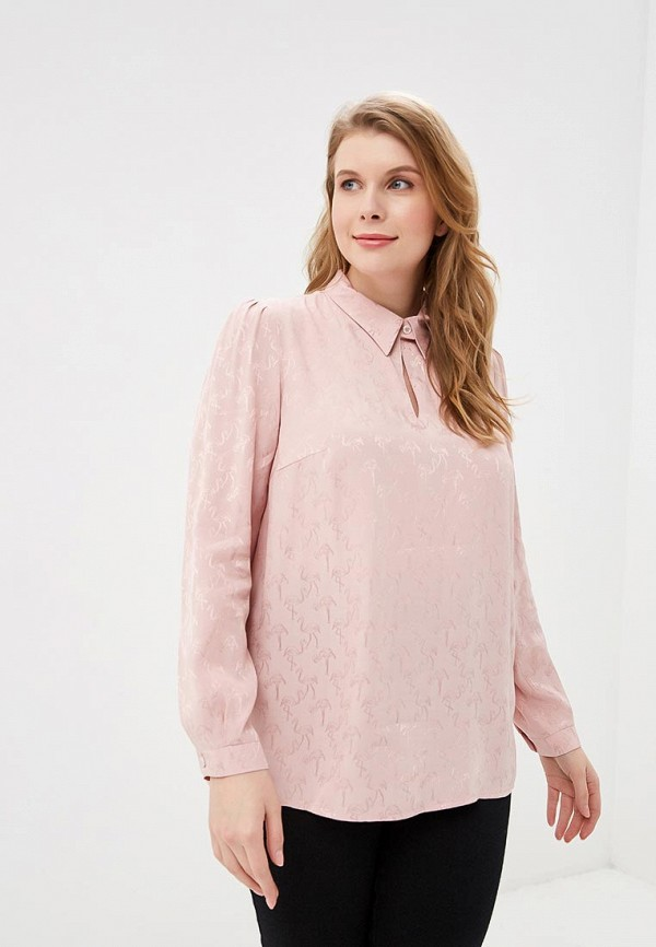 женская блузка borboleta, розовая