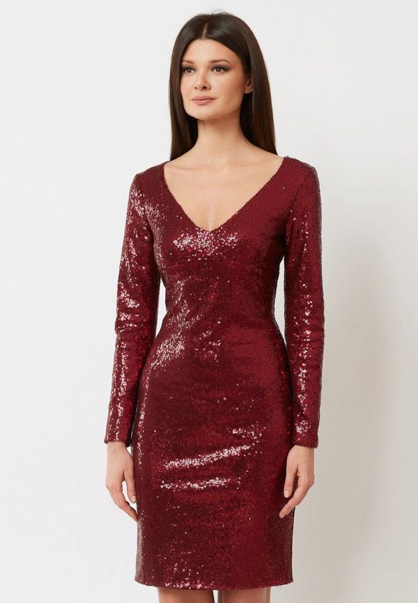 женское вечерние платье a.karina, бордовое