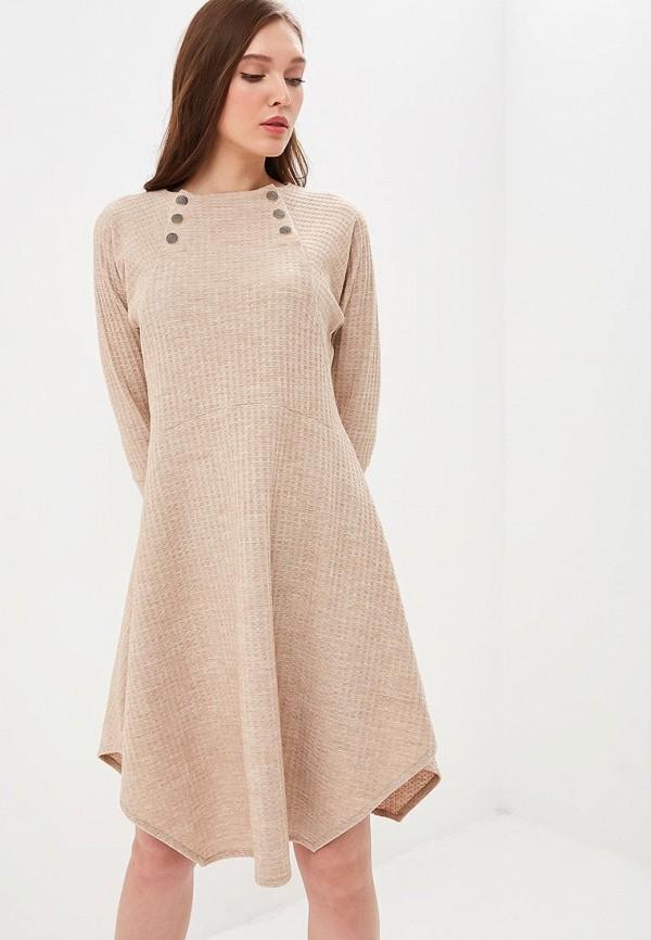 Купить Платье Mari Vera, mp002xw1hq4g, бежевый, Осень-зима 2018/2019