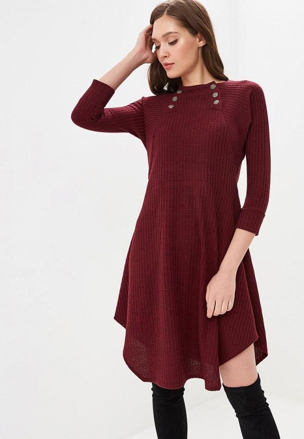 Купить Платье Mari Vera, mp002xw1hq4n, бордовый, Осень-зима 2018/2019