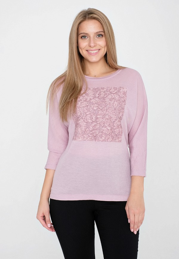 женская блузка eliseeva olesya, розовая