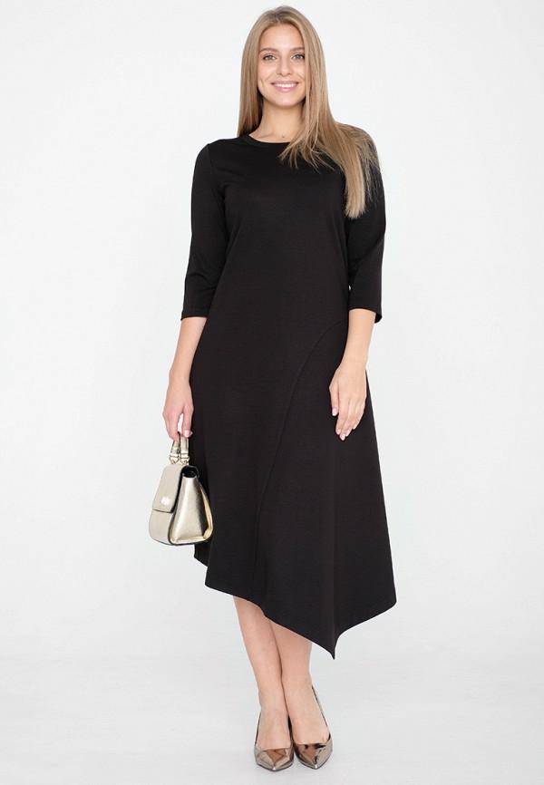 женское платье миди eliseeva olesya, черное