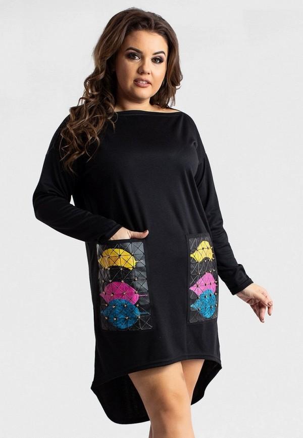 женское повседневные платье modna anka, черное