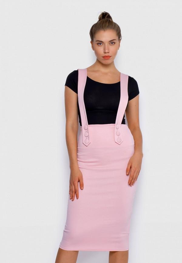 женская зауженные юбка malaeva, розовая
