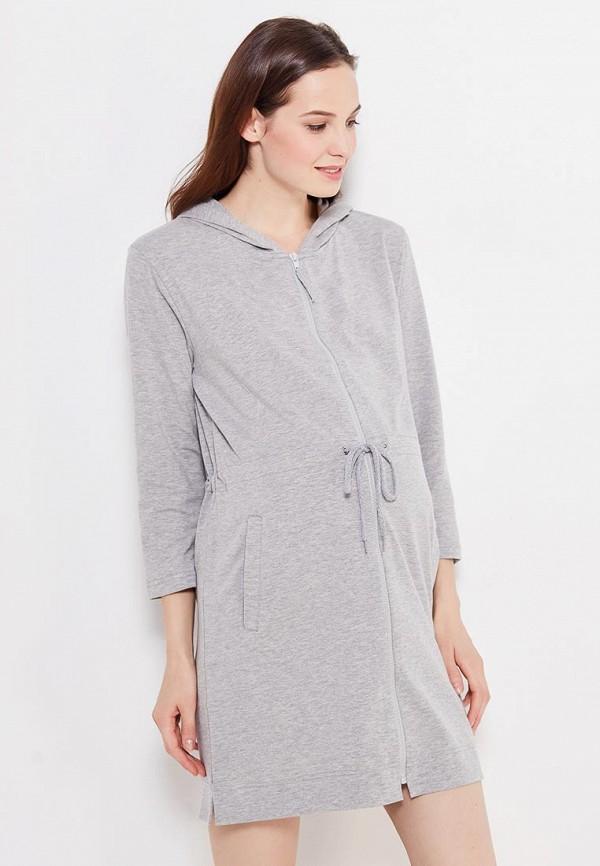 женский халат мамин дом, серый