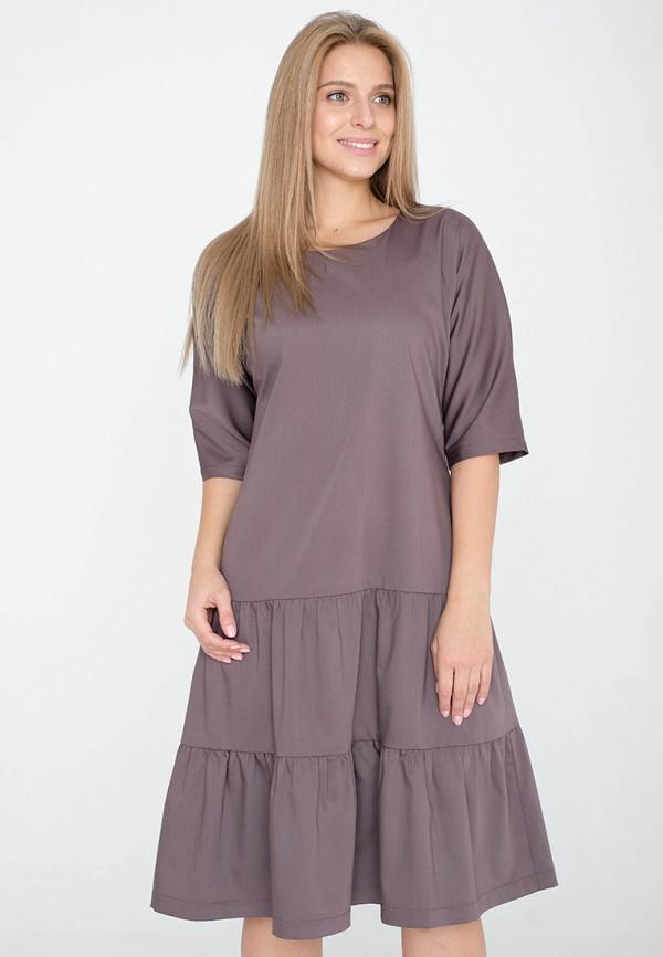 женское платье миди eliseeva olesya, коричневое