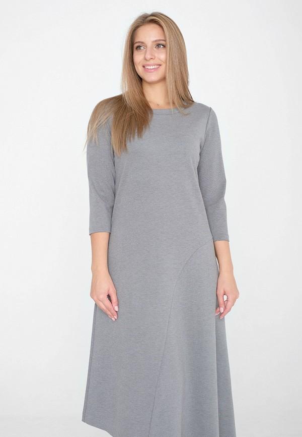 женское платье миди eliseeva olesya, серое