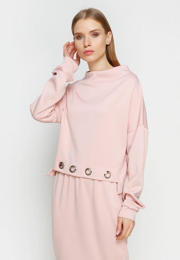 женский свитшот zubrytskaya, розовый