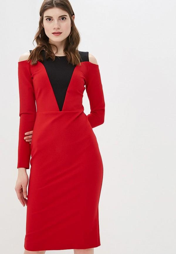 женское вечерние платье bezko, красное