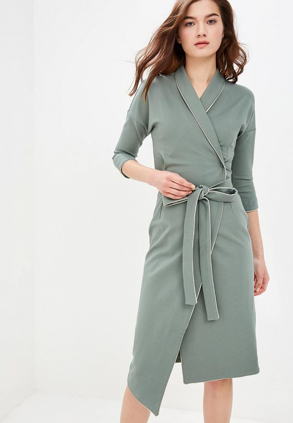 женское повседневные платье olga skazkina, зеленое