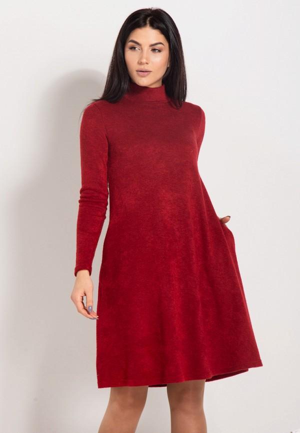 женское платье bessa, бордовое
