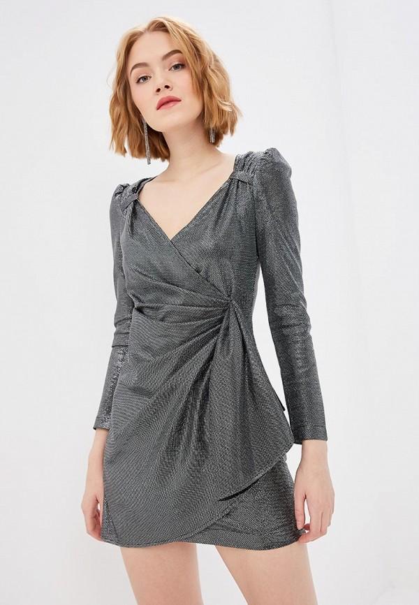 женское вечерние платье self made, серебряное