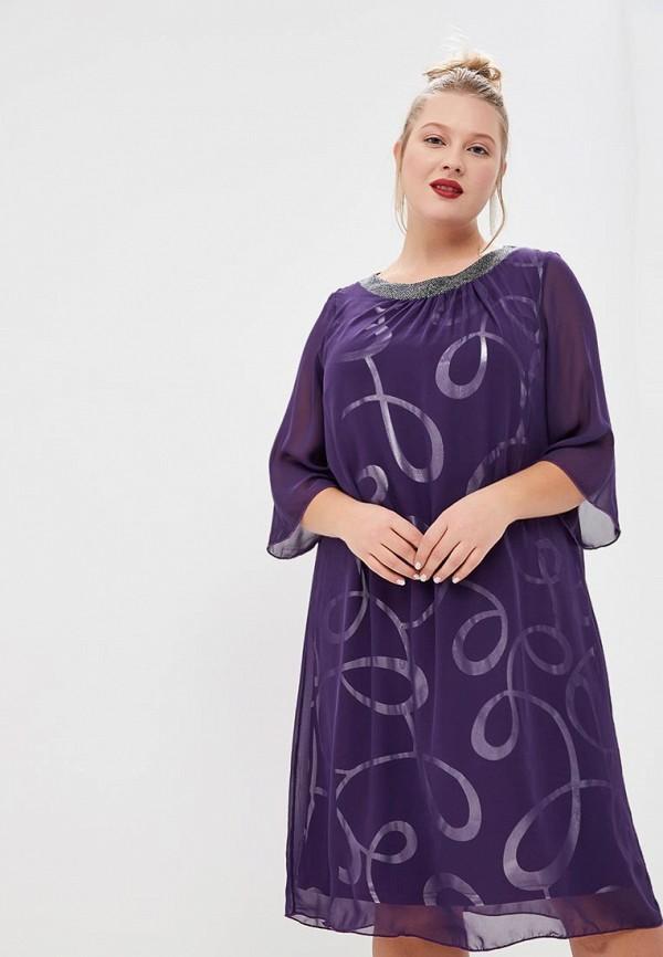 женское повседневные платье olsi, фиолетовое