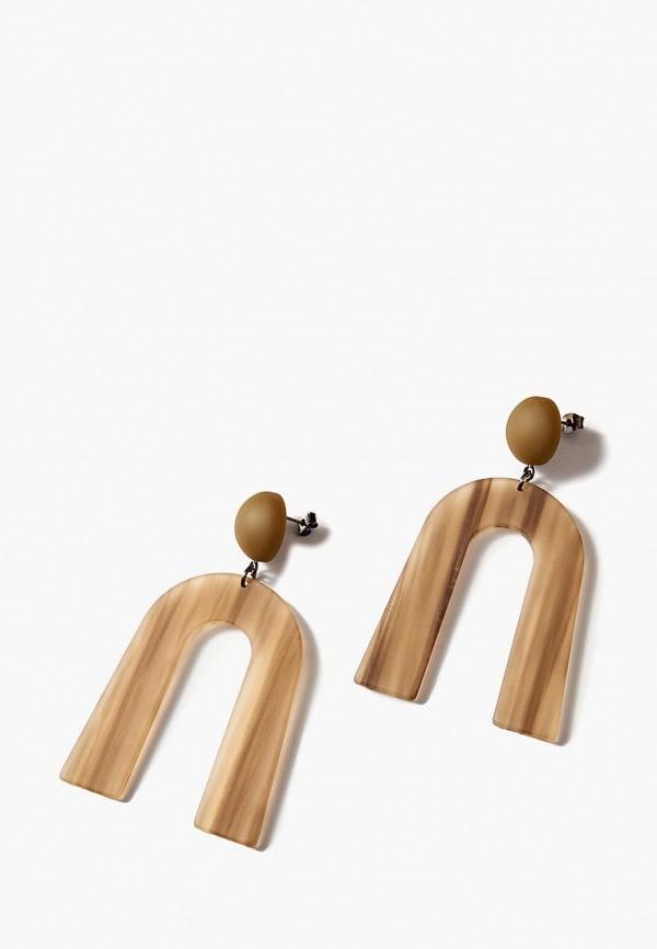 Купить Серьги Exclaim, mp002xw1hsny, коричневый, Осень-зима 2018/2019
