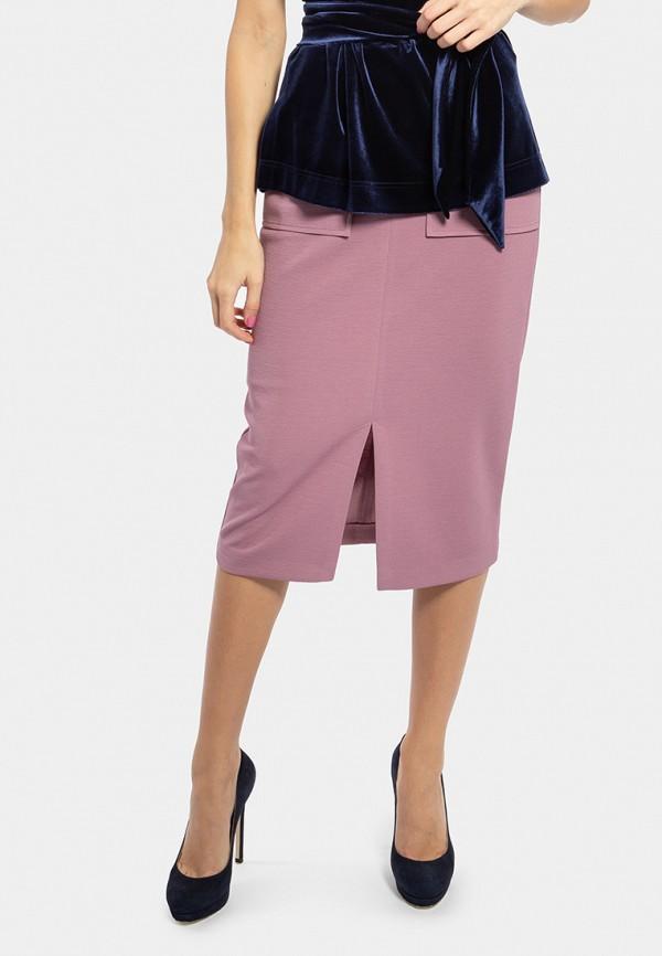 женская прямые юбка vladi collection, розовая
