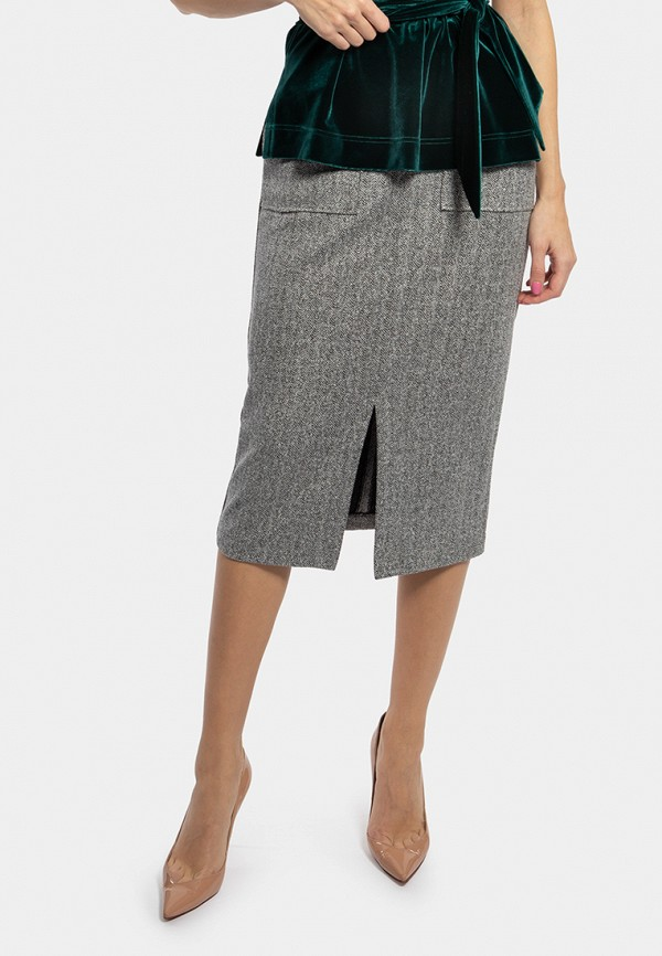 женская прямые юбка vladi collection, серая