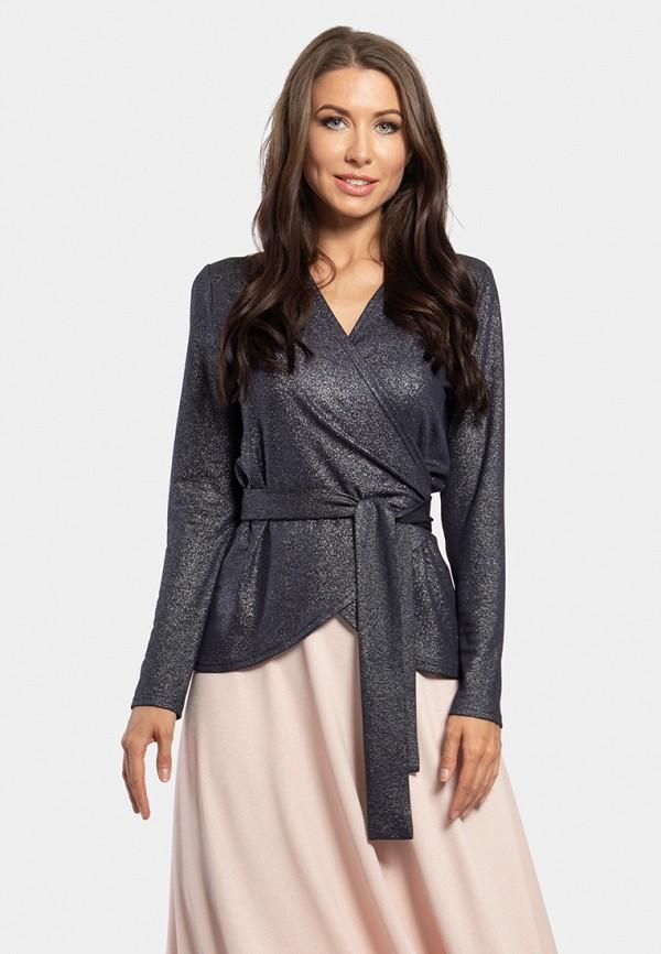 женская блузка vladi collection, синяя