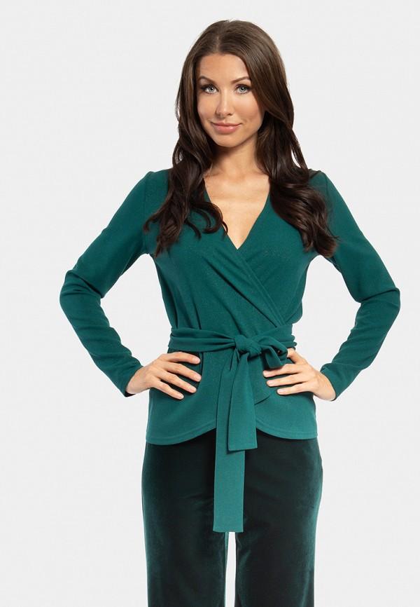 женская блузка vladi collection, зеленая