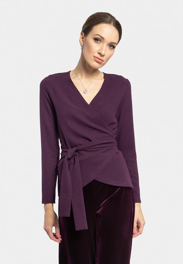 женская блузка vladi collection, бордовая