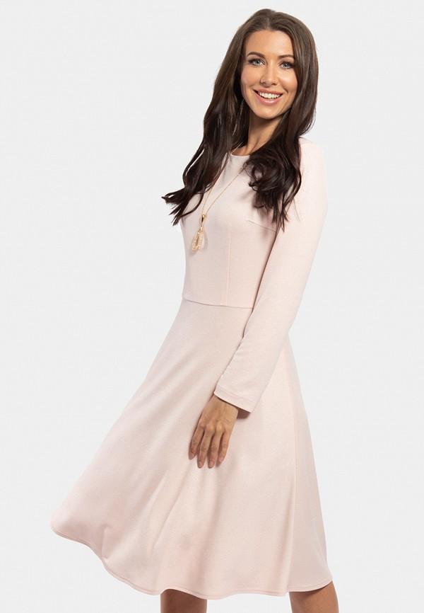 женское повседневные платье vladi collection, розовое
