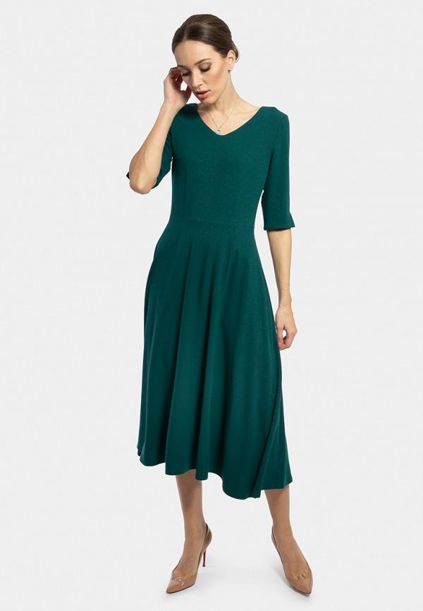 женское платье миди vladi collection, зеленое