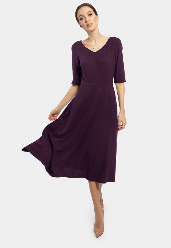 женское платье миди vladi collection, фиолетовое