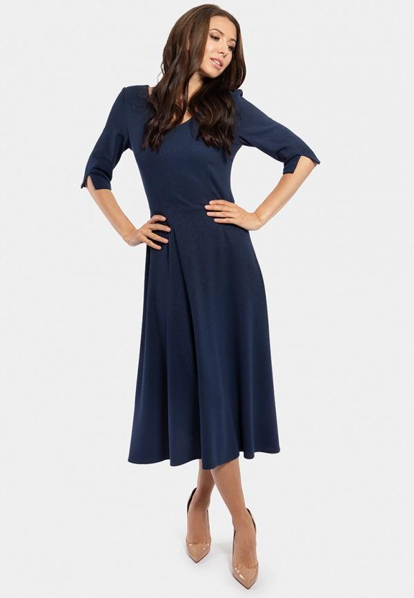 женское платье миди vladi collection, синее