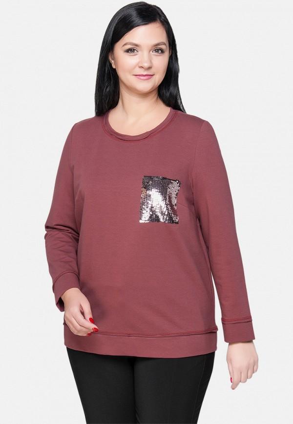 женский свитшот limonti, бордовый