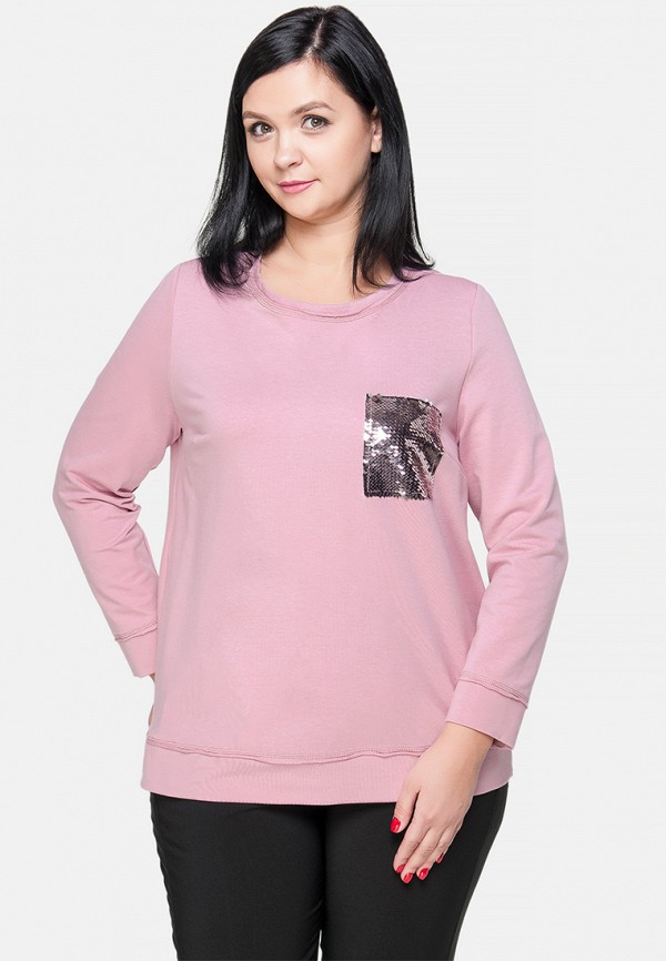 женский свитшот limonti, розовый