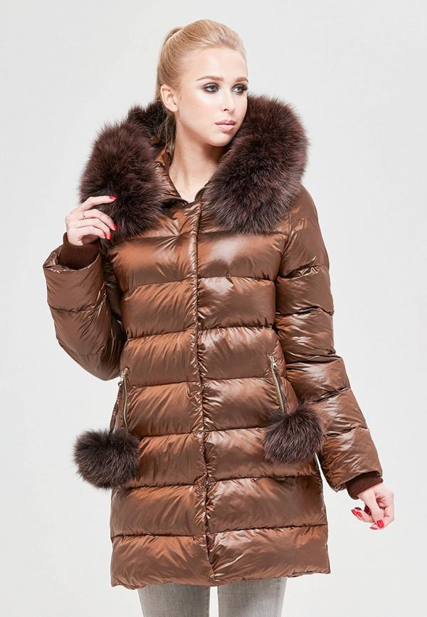 женская куртка mila nova, коричневая