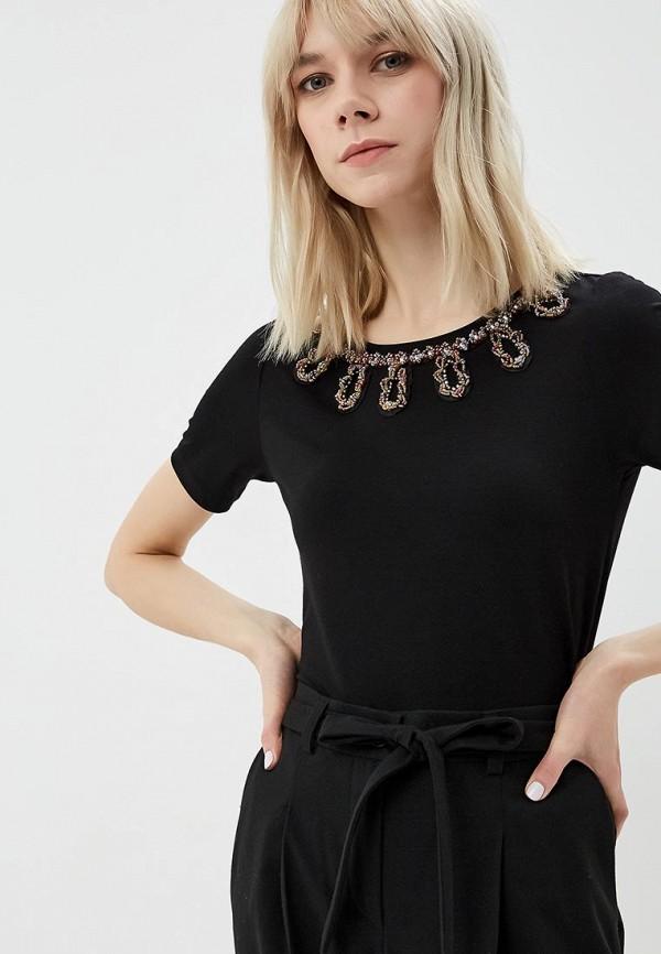 женская футболка madeleine, черная