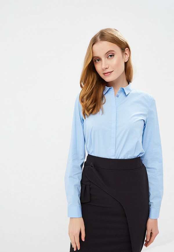 женская блузка madeleine, голубая