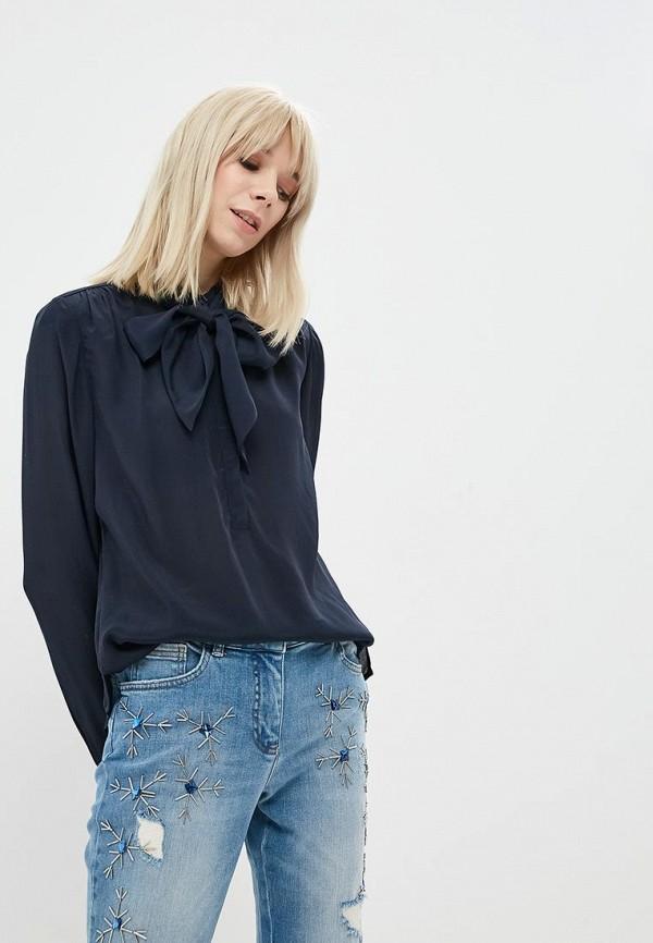 женская блузка madeleine, синяя