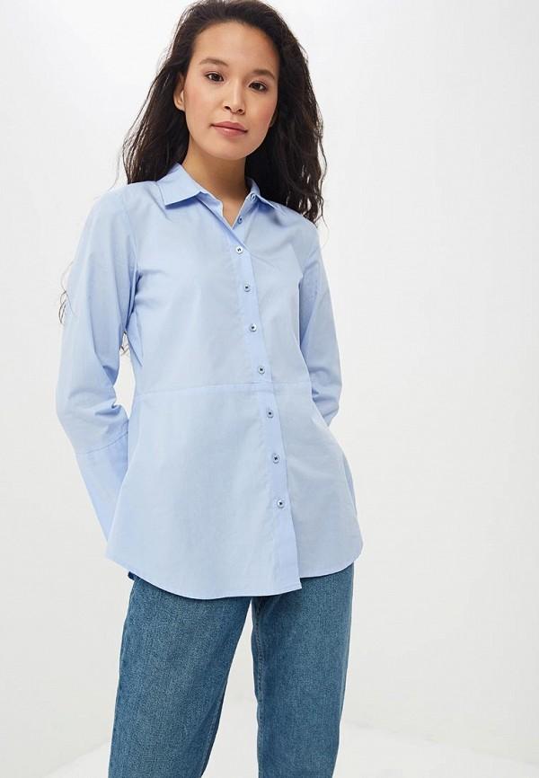 женская рубашка с длинным рукавом madeleine, голубая