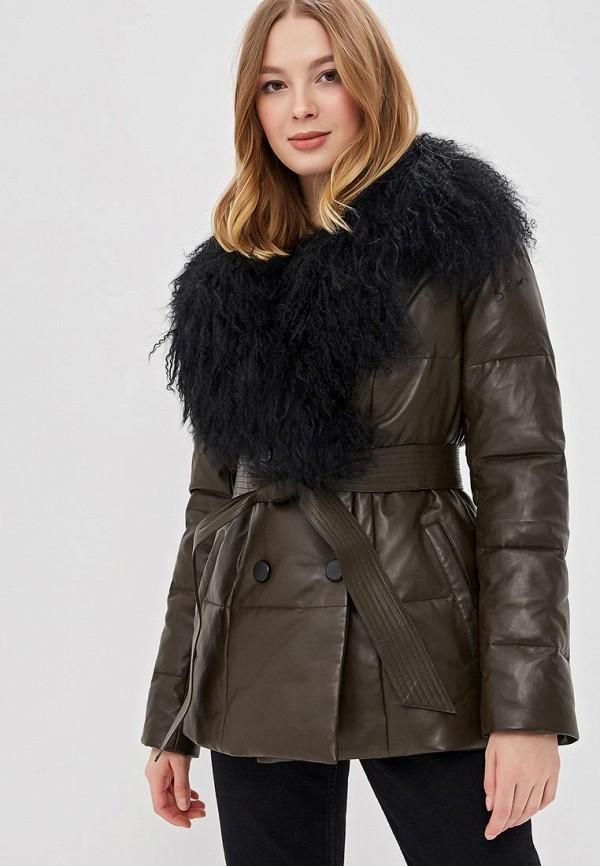 Купить Куртка утепленная La Reine Blanche, CLM193FW18, mp002xw1htt8, хаки, Осень-зима 2018/2019