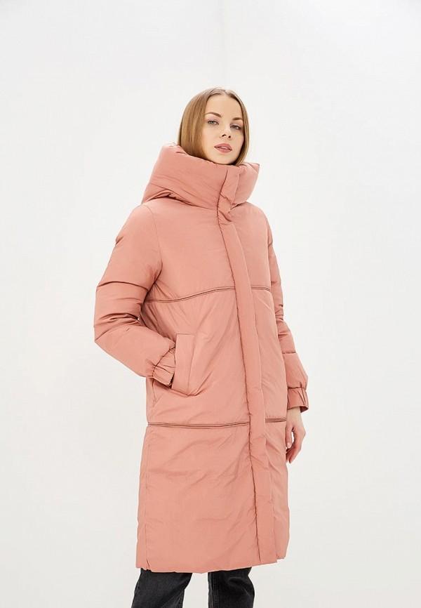 женский пуховик acasta, розовый