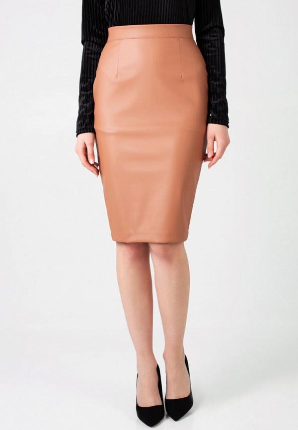 женская юбка irma dressy, коричневая