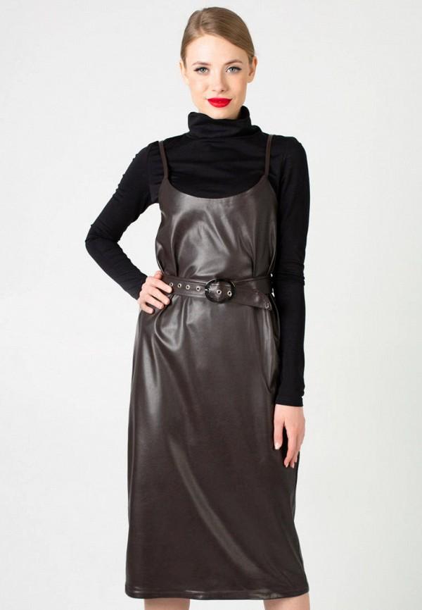 женское платье irma dressy, коричневое