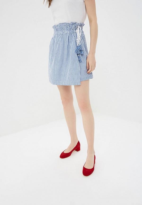 женская юбка colin's, голубая