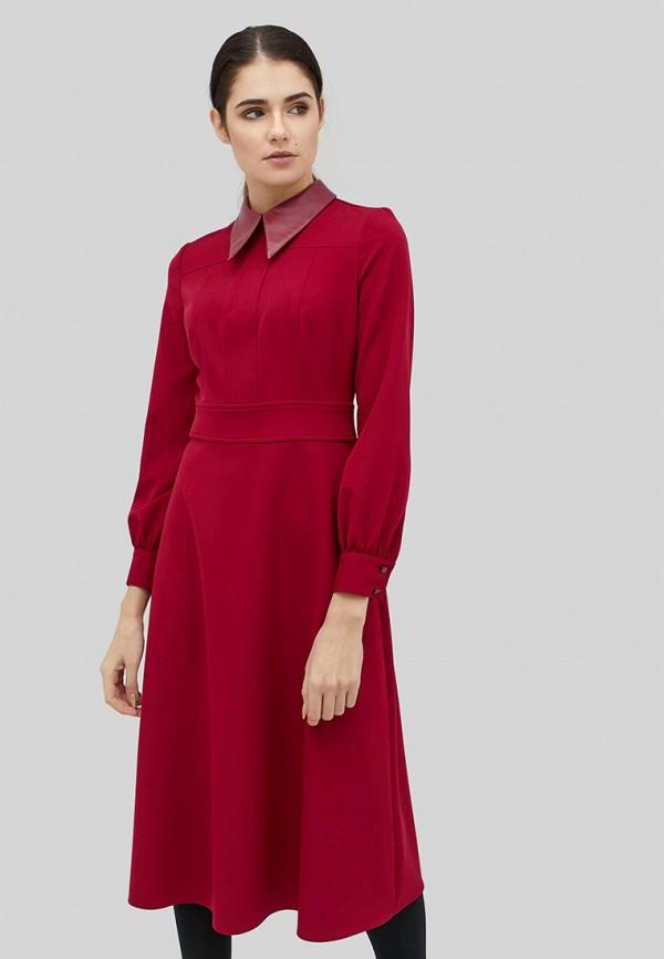 женское повседневные платье cardo, бордовое