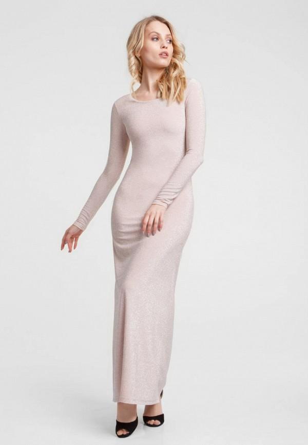 женское вечерние платье oks by oksana demchenko, бежевое