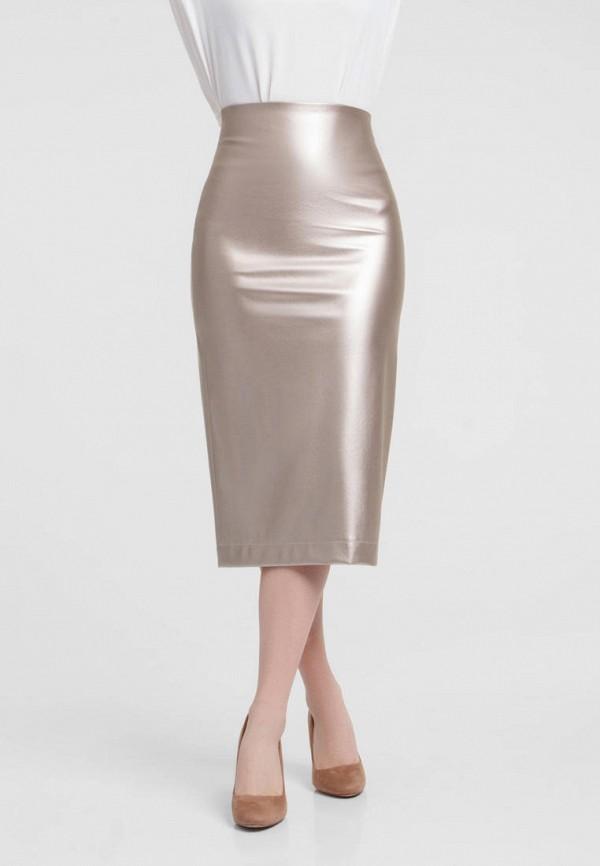 женская прямые юбка evercode, золотая
