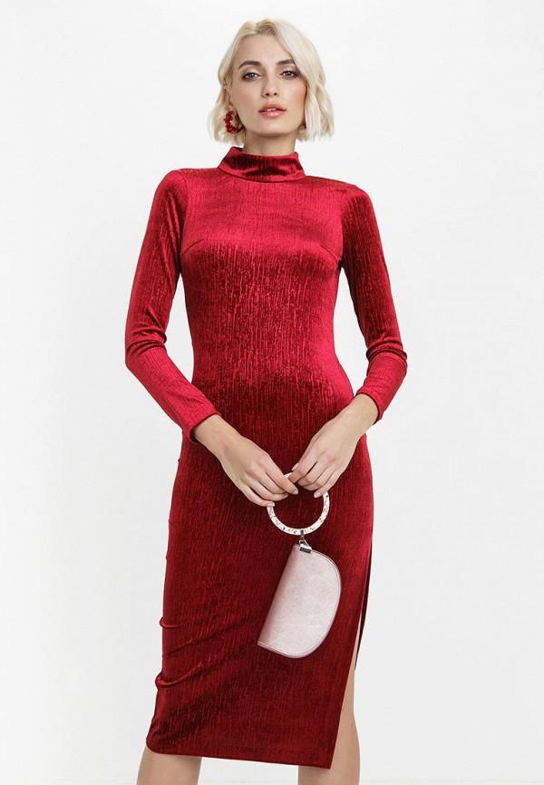 женское вечерние платье audrey right, бордовое