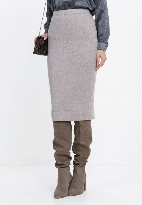 женская прямые юбка audrey right, бежевая