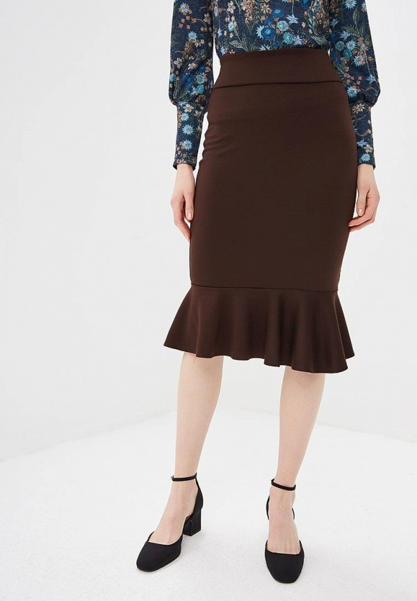 женская зауженные юбка alina assi, коричневая