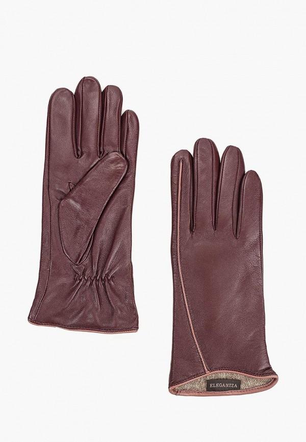 женские перчатки eleganzza, бордовые