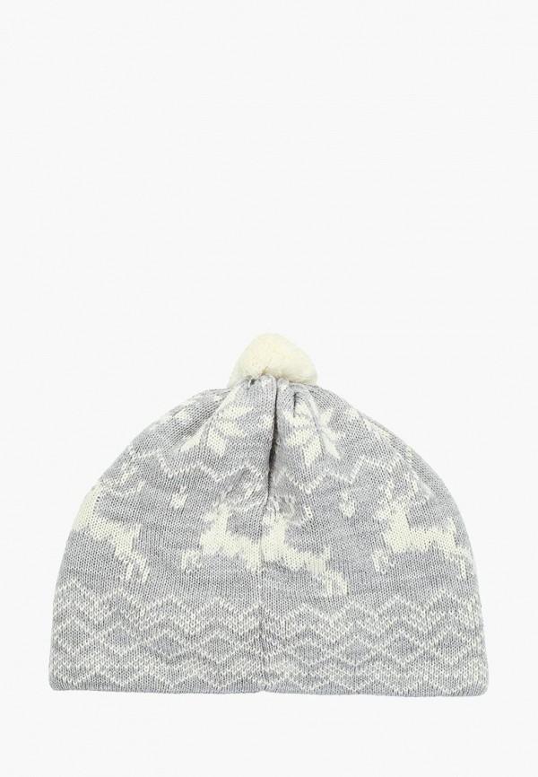 Фото 2 - Женскую шапку Original Siberia серого цвета